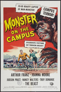 """Monster on the Campus (Universal International, 1958). One Sheet (27"""" X 41"""") and Lobby Card (11"""" X 14&quo..."""