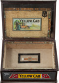 Advertising:Tins, Advertising: Yellow Cab Cigar Box and Counter Display....