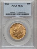 Indian Eagles: , 1932 $10 MS63+ PCGS. PCGS Population (16723/9408). NGC Census:(19602/12261). Mintage: 4,463,000. Numismedia Wsl. Price for...