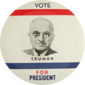 Political:Pinback Buttons (1896-present), Harry S Truman: Rare Picture Pin. ...