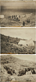 Western Expansion:Goldrush, [Nevada Gold Mining] Three 1906 Photos Documenting the InitialDiscovery of Gold at Round Mountain, Nevada Taken by Pioneer Go...(Total: 3 Items)