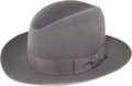 Miscellaneous, Robert Oppenheimer: Fine Gray Felt Stetson Hat Which Belonged To the Famed Physicist and Father of the Atomic Bomb. ...