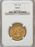 Liberty Eagles: , 1852 $10 AU53 NGC. NGC Census: (100/260). PCGS Population (29/44).Mintage: 263,106. Numismedia Wsl. Price for problem free...