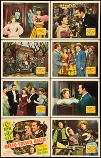 "Hello, Frisco, Hello (20th Century Fox, 1943). Lobby Card Set of 8 (11"" X 14""). Musical. ... (Total: 8 Items)"