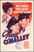 """Movie Posters:Crime, The Great O'Malley (Warner Brothers, 1937). One Sheet (27"""" X 41"""").Crime.. ..."""