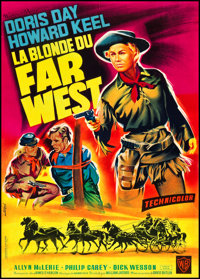"""Calamity Jane (Warner Brothers, 1953). French Affiche (22"""" X 31""""). Musical"""
