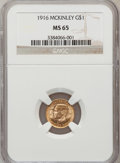 Commemorative Gold, 1916 G$1 McKinley MS65 NGC....
