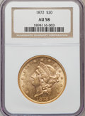 Liberty Double Eagles: , 1872 $20 AU58 NGC. NGC Census: (255/65). PCGS Population (93/76).Mintage: 251,880. Numismedia Wsl. Price for problem free ...
