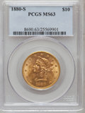 Liberty Eagles: , 1880-S $10 MS63 PCGS. PCGS Population (38/6). NGC Census: (33/3).Mintage: 506,250. Numismedia Wsl. Price for problem free ...