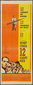 "Movie Posters:Drama, 12 Angry Men (United Artists, 1957). Insert (14"" X 36""). Drama....."