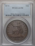 Trade Dollars: , 1874 T$1 AU50 PCGS. PCGS Population (2/108). NGC Census: (3/100).Mintage: 987,100. Numismedia Wsl. Price for problem free ...