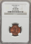 Lincoln Cents, 1994 1C Double Die Obverse AU58 Red and Brown NGC. FS-801. NGCCensus: (0/162). PCGS Population (0/331). (#3115)...