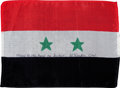 Transportation:Space Exploration, Apollo 15 Flown National Flag of Egypt (United Arab Republic)Directly from the Personal Collection of Mission Command Module ...