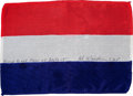 Transportation:Space Exploration, Apollo 15 Flown National Flag of the Netherlands Directly from the Personal Collection of Mission Command Module Pilot Al Word...