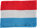 Transportation:Space Exploration, Apollo 15 Flown Flag of Luxembourg Directly from the PersonalCollection of Mission Command Module Pilot Al Worden, Signed and...