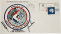 Transportation:Space Exploration, Apollo 15 Crew-Signed Insurance Cover Directly from the Personal Collection of Mission Command Module Pilot Al Worden, Signed ...