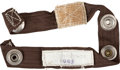 Transportation:Space Exploration, Apollo 9 Flown Interim Utility Stowage Strap Directly from thePersonal Collection of Mission Lunar Module Pilot Rusty Schweic...