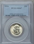 Washington Quarters, 1934 25C Medium Motto MS67 PCGS....
