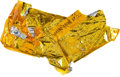 Transportation:Space Exploration, Apollo 9 Lunar Module Flown Large Kapton Foil Section Directly fromthe Personal Collection of Mission Lunar Module Pilot Rust...