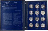 """""""America in Space"""" Franklin Mint Proof Sterling Silver Medal Set (24) Directly from the Personal Collection of..."""