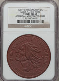 20th Century Tokens and Medals, (c. 1910) American Vulcanized Fibre Token MS64 NGC. S-855-A2. Material: red fibre....