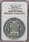 Expositions and Fairs, 1885 Louisiana, International Drill, Industrial & CottonExposition Medal MS61 NGC. 45 mm, white metal....