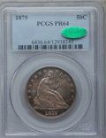 Proof Seated Half Dollars, 1875 50C PR64 PCGS. CAC....