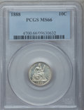 Seated Dimes, 1888 10C MS66 PCGS....