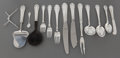 Silver Flatware, Continental:Flatware, A ONE-HUNDRED TWENTY-FOUR PIECE GEORG JENSEN SILVER FLATWARESERVICE WITH CASE . Georg Jensen, Inc., Copenhagen, Denmark, ...(Total: 124 Items)