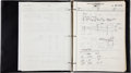 Transportation:Space Exploration, Grumman Apollo 11 Lunar Module Handwritten Construction and TestingLog Book. ...