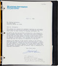 Transportation:Space Exploration, Apollo 13: Copy of Grumman Lunar Module Mission Log with Signed Book Release Forms from Fred Haise, Tom Kelly, and Numerous Ot...