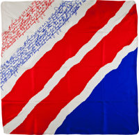 Edward H. White II Memorial Fund Silk Scarf with Signed Photo of the King and Queen of Belgium