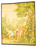 Decorative Arts, French:Other , A FRENCH SILK TAPESTRY . Possibly Paris, France, late 19th/early20th century. Unmarked. 65 x 52-1/2 inches (165.1 x 133.4 c...