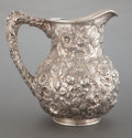 Silver Holloware, American:Pitchers, A S. KIRK SILVER PITCHER . S. Kirk & Son Inc., Baltimore,Maryland, circa 1896. Marks: S. KIRK & SON INC., STERLING,12 ...