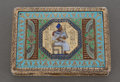 Silver Smalls:Snuff Boxes, AN EGYPTIAN SILVER GILT AND ENAMEL SNUFF BOX . Cairo, Egypt, circa1928. Marks: (city mark, cat, D), STERLING . 3-1/8 in...
