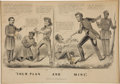 Political:3D & Other Display (pre-1896), Abraham Lincoln: 1864 Campaign Cartoon....