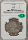 Early Half Dollars, 1805 50C VF25 NGC. CAC. O-107, R.5....