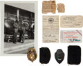 Miscellaneous:Ephemera, John Dillinger: Archive and Badges of Chief Wollard, Dillinger's Captor.... (Total: 20 Items)