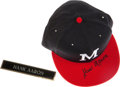 Baseball Collectibles:Hats, Hank Aaron Signed Milwaukee Braves Cap....