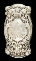 Silver Smalls:Match Safes, A WHITING SILVER MATCH SAFE . Whiting Manufacturing Company, NewYork, New York, circa 1890. Marks: (W with griffin), ST...