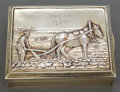 Silver Holloware, Continental:Holloware, A KHLEBNIKOV SILVER AND SILVER GILT BOX WITH INTERIOR FRAME . IvanPetrovich Khlebnikov, Moscow, Russia, 1907-1917. Marks: (...