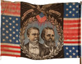 Political:Textile Display (pre-1896), Hancock & English: A Fine 1880 Campaign Flag Banner....
