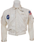 Transportation:Space Exploration, John Young's Apollo Coverall Jacket with Tagging and Patches,Originally from His Personal Collection, Signed. ...