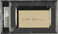 Autographs:Others, Circa 1930 Walter Johnson Signed Blank Business Card, PSA/DNA Authentic....