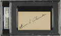Autographs:Others, Circa 1940 Grover Cleveland Alexander Signed Blank BusinessCard....