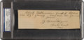 Autographs:Others, 1945 Honus Wagner Handwritten Signed Note re: Mathewson & Young, PSA/DNA Gem Mint 10....