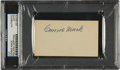 Autographs:Others, Circa 1940 Connie Mack Double-Signed Blank Business Card....