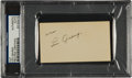 Autographs:Others, Circa 1930 Lou Gehrig Signed Blank Business Card....