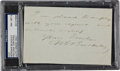 Autographs:Others, Circa 1900 Morgan Bulkeley Handwritten Signed Note, PSA/DNA NM-MT8....