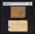 Colonial Notes:Continental Congress Issues, Continental Currency November 2, 1776 $2 PMG Good 6 Net.. ...